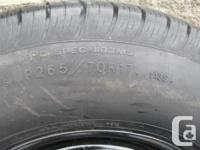 ONE (1) GOODYEAR WRANGLER HP TIRE ON RIM SIZE