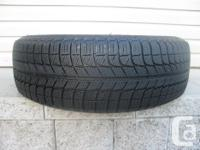 ONE (1) MICHELIN X-ICE WINTER TIRE SIZE /195/65/15/