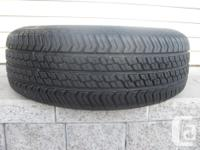ONE (1) MOTORMASTER AW TIRE SIZE /225/70/15/ ALL