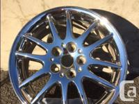 One Chrysler 17 inch (OEM) chrome rim for sale.Rim came
