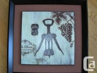 "Square French themed ""corkscrew"" is 17x17 inches in"