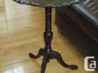 One of a kind pie crust table Would make a great side