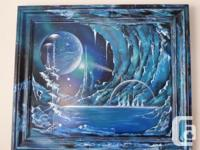 "ONE-OF-A-KIND PAINTING ENTITLED ""ICE PLANET"" - SIGNED"