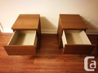 Hi, I am selling one pair 2-drawer chests, brown colour