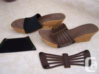 One-Sole shoes w/5 toppers Casual Soft Step - wedge