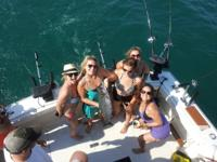 aboard a lavish 40 foot Luhrs SF that is rigged with