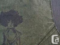 OPEN - Moss Green Short-Sleeve Top - size XS, shoulder: