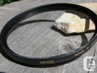 OPTEX Digital 1-E 58mm CAMERA LENS FILTER. Very good
