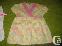 Pink and Yellow V Neck line Smock Top - 2T - NWOT.