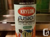 Orange Spray Paint Cans - $15 for box of 6 cans. Krylon, used for sale  British Columbia