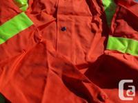 Orange Traffic Safety Jacket with hood & 2 pairs of