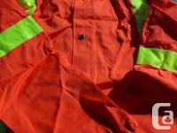 Orange Traffic Safety Jacket with hood & 2 pairs of