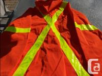 Orange Traffic Safety Jacket with hood - Size 42 - NEW.