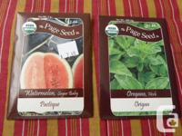 The Page Seed Co organic garden seeds. Turnip,