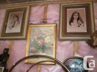 "Oriental Print with Frame size 22.5"" x 17"" GC I'm"