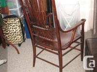 Original 100 years old Amish handmade occasional chair