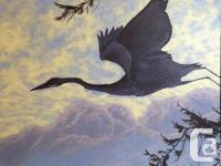Original acrylic on gallery canvas by local artist,