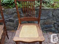 Four original Americana Oak Press Back Chairs circa