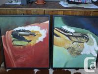 For Sale are two original art paintings on canvas.