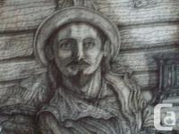 ORIGINAL POINTILLISM ( ALL DOTS ) PEN AND INK ARTWORK
