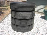 These four tires were removed from a 1973 Buick Century