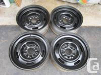 15 x 6 Corvette Rally Wheels.  These wheels were