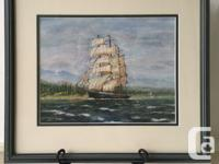This is an original Gouache by Peter Waldin. The ship