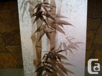 Original hand painted bamboo plants by CHOI, inventory