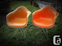 Hi, We have 2 original Herman Miller Eames Chairs light for sale  British Columbia
