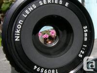 Original Nikon Series E 35mm f2.5 Wide Angle AI-s Lens.