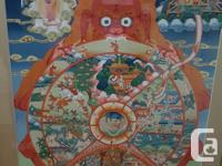 Beautiful Tibetan Thangka depicting the Wheel of Life.