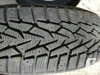 4 Nokian 195/65 R15 M&S tires with excellent tread