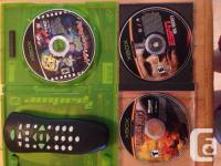 Original Xbox with 20 games two controllers DVD remote
