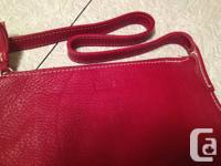 """Fabulous Vintage """"Root systems"""" Red natural leather"""