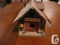 """Approximately 6"""" wide x 6"""" high. The birdhouse is an"""