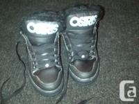 Size 7.5 The Osiris NYC 83 Mid Shearling fleece lined