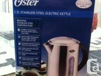 Stainless steel electric kettle available -  never
