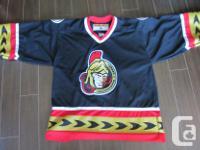Adult Large Ottawa Senators Jersey. Made in Canada by