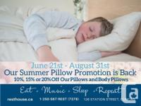 Still looking for that perfect pillow? During our