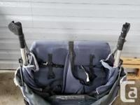Out n About double stroller. Pneumatic tires, comes
