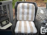 4 outdoor (or indoor) cushions, never been wet, no