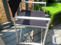 Nice navy blue and white color director chair.. fold up