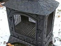 Cast Iron Outdoor Fireplace. Add a new and intriguing