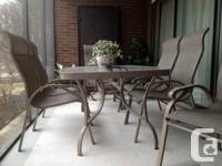 'ESTIVA' patio set purchased from Patio Palace in