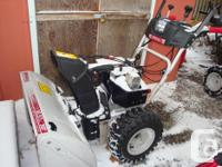 "30"" White Outdoor Extreme Snowblower.10 hp with heated"