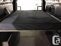 Outside Van three piece bed, three cabinets, plastic