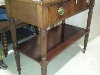 Superb strong mahogany single drawer server. High