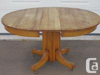 "Antique Oval Kitchen Table with pedestal. 45"" diameter"
