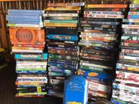 huge lot of dvd's. includes over 280 plus single movies