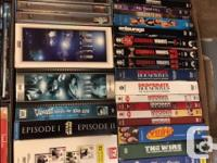 For sale is about 550 dvd and a few blue rays. there is